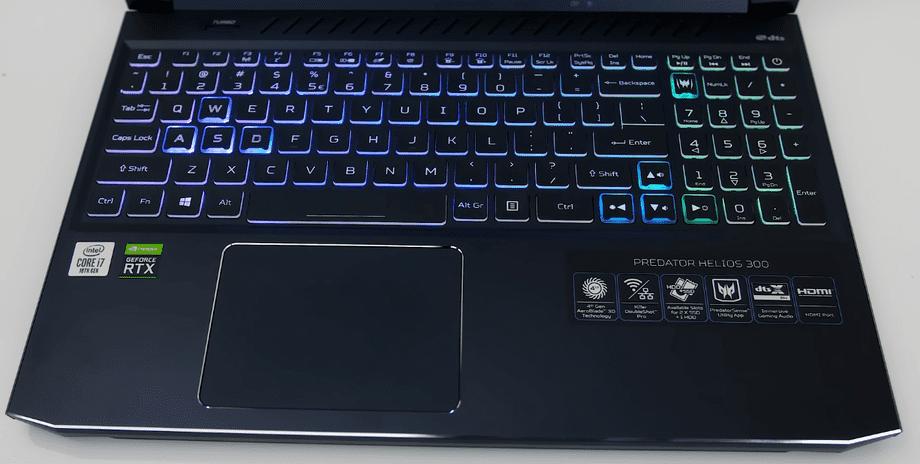 Acer Helios 300 teclado