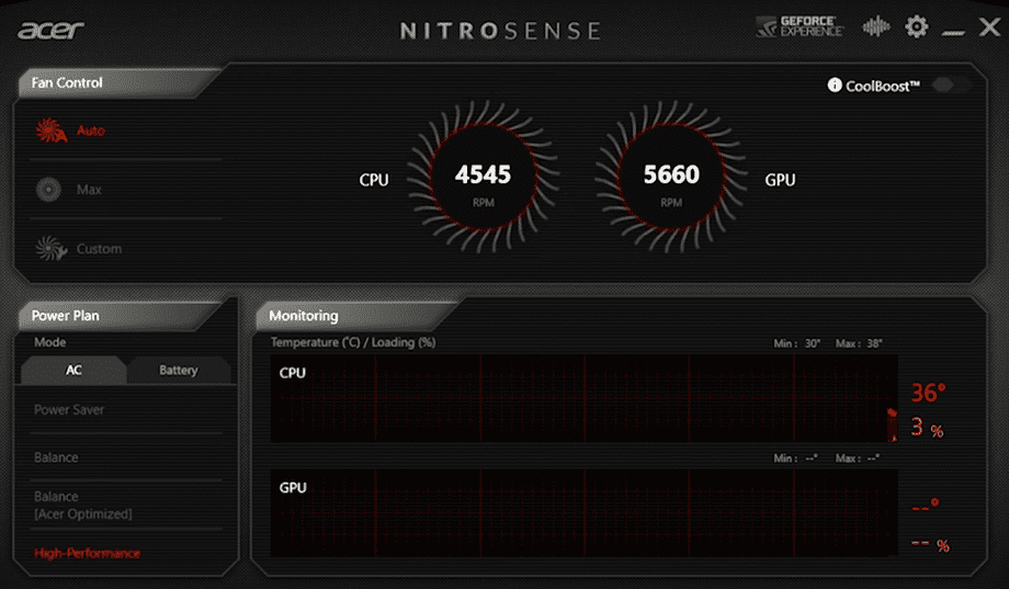 Acer Nitro 5 AN515-44 Nitrosense