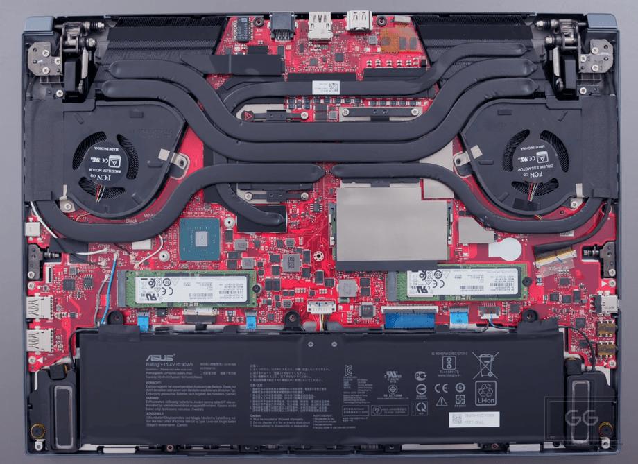 Asus Zephyrus Duo 15 GX550LXS Interior
